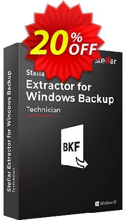 Stellar Phoenix Window Backup Recovery Coupon, discount Stellar Extractor for Windows Backup staggering discount code 2020. Promotion: NVC Exclusive Coupon