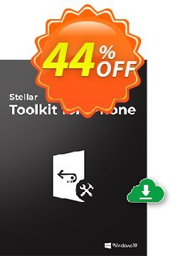 Stellar Data Recovery for iPhone Toolkit Coupon, discount Stellar Toolkit for iPhone-Windows Wondrous sales code 2021. Promotion: Wondrous sales code of Stellar Toolkit for iPhone-Windows 2021