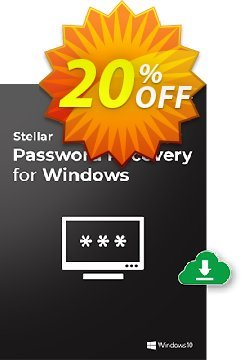 Stellar Password Recovery for Windows Coupon, discount Stellar Password Recovery for Windows Dreaded promo code 2021. Promotion: Dreaded promo code of Stellar Password Recovery for Windows 2021