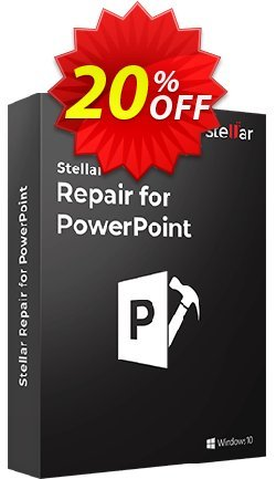 Stellar Phoenix PowerPoint Repair Coupon, discount Stellar Repair for PowerPoint [1 Year Subscription] wondrous discounts code 2020. Promotion: NVC Exclusive Coupon