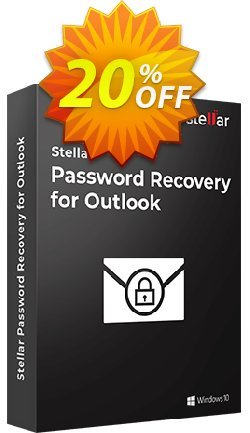 Stellar Phoenix Outlook Password Recovery Coupon, discount Stellar Password Recovery for Outlook [1 Year Subscription] staggering promo code 2020. Promotion: NVC Exclusive Coupon
