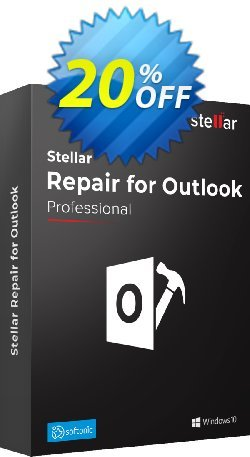Stellar Repair for Outlook Professional Lifetime Coupon discount 20% OFF Stellar Repair for Outlook Lifetime, verified - Stirring discount code of Stellar Repair for Outlook Lifetime, tested & approved