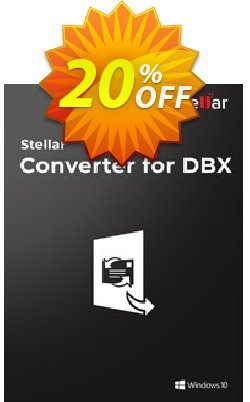 Stellar DBX to PST Converter Coupon, discount Stellar Converter for DBX [1 Year Subscription] awesome sales code 2020. Promotion: NVC Exclusive Coupon