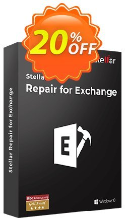 Stellar Phoenix Mailbox Exchange Recovery Coupon, discount Stellar Repair for Exchange [1 Year Subscription] stirring promotions code 2020. Promotion: NVC Exclusive Coupon