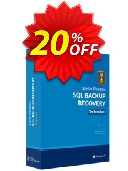 Stellar Phoenix SQL Backup Recovery Coupon, discount Stellar Repair for SQL Backup  fearsome promo code 2020. Promotion: NVC Exclusive Coupon
