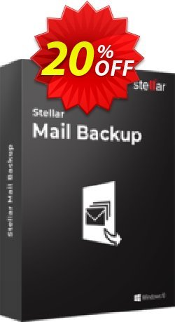 Stellar Mail Backup Coupon, discount Stellar Mail Backup [1 Year Subscription] wondrous promotions code 2020. Promotion: NVC Exclusive Coupon