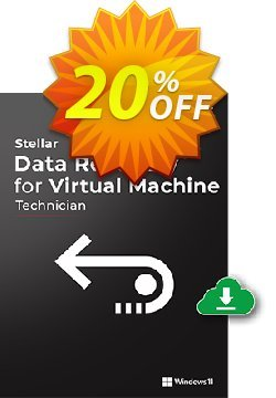 Stellar Phoenix Virtual Machine Data Recovery Coupon, discount Stellar Data Recovery for Virtual Machine hottest promo code 2020. Promotion: Stellar Exclusive Coupon