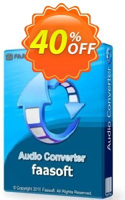 Faasoft Audio Converter Coupon discount 20%OFF Permannent. Promotion: