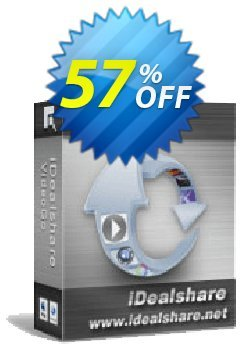 iDealshare VideoGo for 1 Year License Coupon, discount 50% off for 611063. Promotion:
