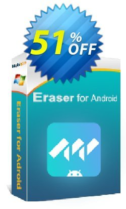 MobiKin Eraser for Android - 1 Year, 6-10PCs License Coupon, discount 50% OFF. Promotion: