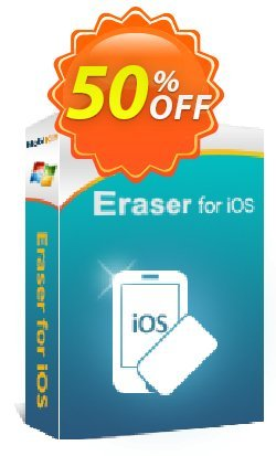 MobiKin Eraser for iOS - Lifetime, 16-20PCs Coupon discount 50% OFF. Promotion: