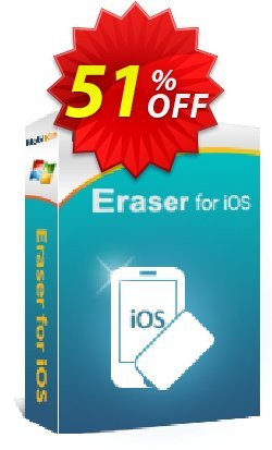 MobiKin Eraser for iOS - 1 Year, 2-5 PCs License Coupon discount 50% OFF -