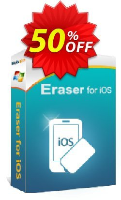 MobiKin Eraser for iOS - 1 Year, 11-15PCs License Coupon discount 50% OFF -