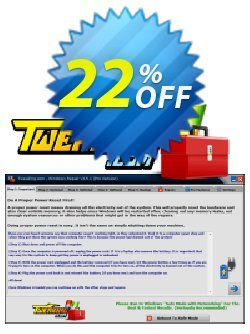 Tweaking.com - Windows Repair Pro v3 to v4 Upgrade Coupon, discount Tweaking.com - Windows Repair Pro v3 to v4 Upgrade fearsome sales code 2019. Promotion: fearsome sales code of Tweaking.com - Windows Repair Pro v3 to v4 Upgrade 2019
