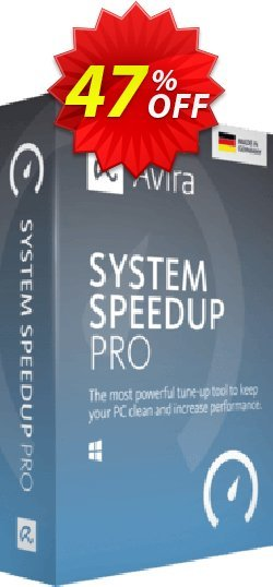 Avira System Speedup Pro Coupon, discount 45% OFF Avira System Speedup Pro, verified. Promotion: Fearsome promotions code of Avira System Speedup Pro, tested & approved