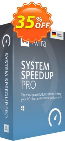 Avira System Speedup Pro - 2 year  Coupon, discount 45% OFF Avira System Speedup Pro (2 year), verified. Promotion: Fearsome promotions code of Avira System Speedup Pro (2 year), tested & approved