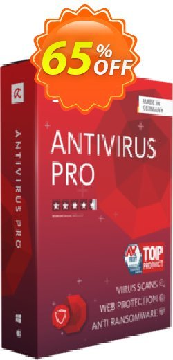 Avira Antivirus Pro 2 years Coupon, discount 50% OFF Avira Antivirus Pro 1 year, verified. Promotion: Fearsome promotions code of Avira Antivirus Pro 1 year, tested & approved