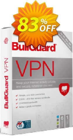 BullGuard VPN Coupon discount 76% OFF BullGuard VPN, verified - Awesome promo code of BullGuard VPN, tested & approved