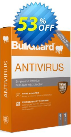 BullGuard Antivirus 2021 - 1 year / 1 PC  Coupon discount BullGuard 2021 Antivirus 1-Year 1-PC at USD$19.95 marvelous offer code 2021. Promotion: marvelous offer code of BullGuard 2021 Antivirus 1-Year 1-PC at USD$19.95 2021