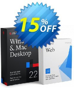 ATLAS.ti personalized single user yearly - PC, Mac + Web  Coupon, discount 15% OFF ATLAS.ti personalized single user (PC, Mac + Web yearly), verified. Promotion: Best deals code of ATLAS.ti personalized single user (PC, Mac + Web yearly), tested & approved