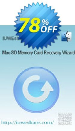 IUWEshare Mac SD Memory Card Recovery Wizard Coupon, discount IUWEshare coupon discount (57443). Promotion: IUWEshare coupon codes (57443)