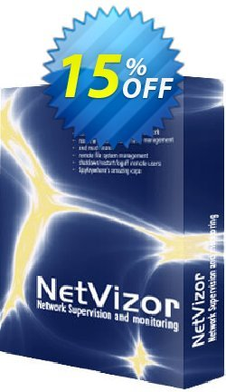 Spytech NetVizor - 50/100/250 Computers  Coupon discount 15% OFF Spytech NetVizor (50/100/250 Computers) Oct 2020 - Super discounts code of Spytech NetVizor (50/100/250 Computers), tested in October 2020