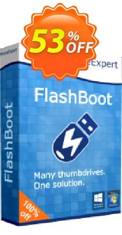 FlashBoot Pro Coupon, discount 50% OFF FlashBoot Pro, verified. Promotion: Wonderful sales code of FlashBoot Pro, tested & approved