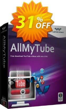 Wondershare AllMyTube Coupon discount 30% Wondershare Software (8799) -