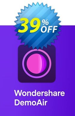 Wondershare DemoAir Monthly plan Coupon, discount 35% OFF Wondershare DemoAir Monthly plan, verified. Promotion: Wondrous discounts code of Wondershare DemoAir Monthly plan, tested & approved