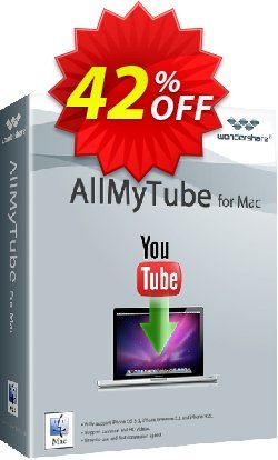 Wondershare AllMyTube for Mac - Lifetime, 1 Year, Family license  Coupon, discount 42% OFF Wondershare AllMyTube for Mac (Lifetime, 1 Year, Family license), verified. Promotion: Wondrous discounts code of Wondershare AllMyTube for Mac (Lifetime, 1 Year, Family license), tested & approved