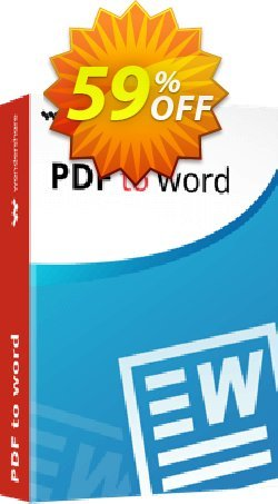 Wondershare PDF to Word Converter Coupon discount Back to School-30% OFF PDF editing tool -