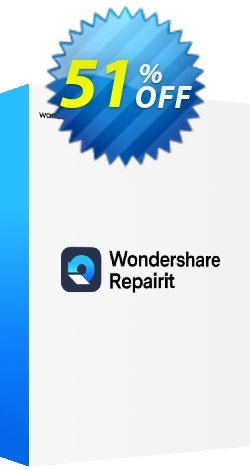 Wondershare Repairit Tool Coupon discount Recoverit Video Repair (Win) Formidable discount code 2021. Promotion: Formidable discount code of Recoverit Video Repair (Win) 2021