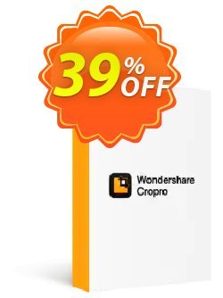 Wondershare Cropro Professional Coupon, discount 30% OFF Wondershare Cropro Professional, verified. Promotion: Wondrous discounts code of Wondershare Cropro Professional, tested & approved