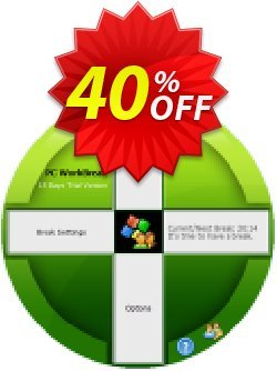 PC WorkBreak Home License Coupon discount 40% OFF PC WorkBreak Personal License, verified - Awesome offer code of PC WorkBreak Personal License, tested & approved