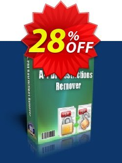 A-PDF Restrictions Remover Coupon discount A-PDF Coupon (9891). Promotion: 45% Off For 40 licenses of A-PDF