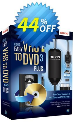 Roxio Easy VHS to DVD 3 Plus Coupon, discount 43% OFF Easy VHS to DVD 3 Plus, verified. Promotion: Excellent discounts code of Easy VHS to DVD 3 Plus, tested & approved