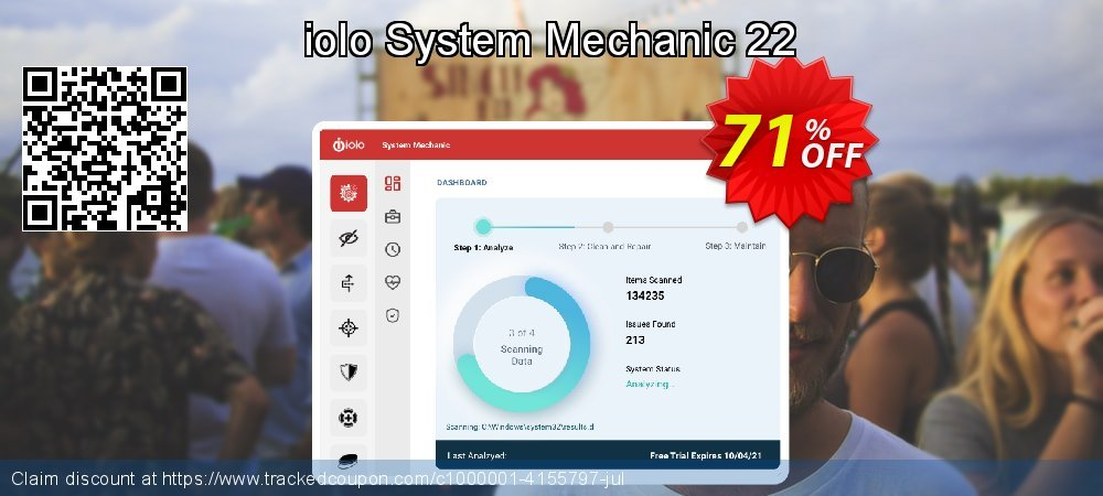 iolo System Mechanic coupon on Valentine's Day offer