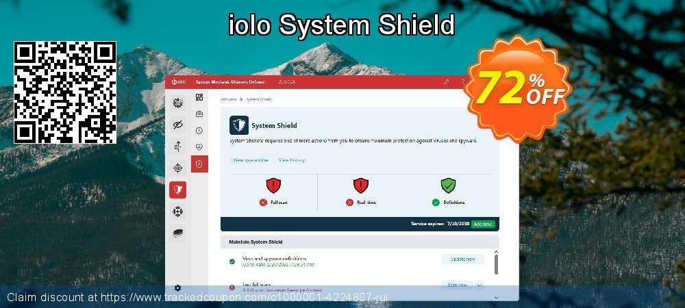 iolo System Shield coupon on US Independence Day discounts