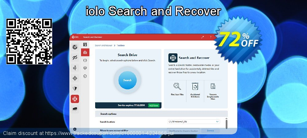 iolo Search and Recover coupon on Int. Workers' Day sales