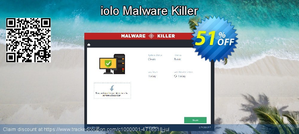 iolo Malware Killer coupon on July 4th discount