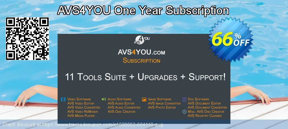 AVS4YOU One Year Subscription coupon on Back to School deals offering discount