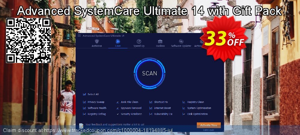 Advanced SystemCare Ultimate 14 with Gift Pack coupon on Easter Sunday super sale