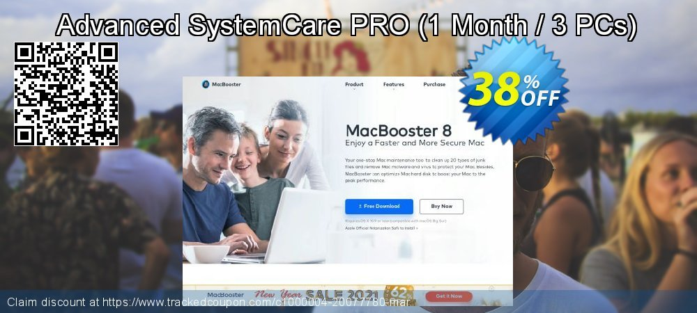 Advanced SystemCare PRO - 1 Month / 3 PCs  coupon on Halloween promotions