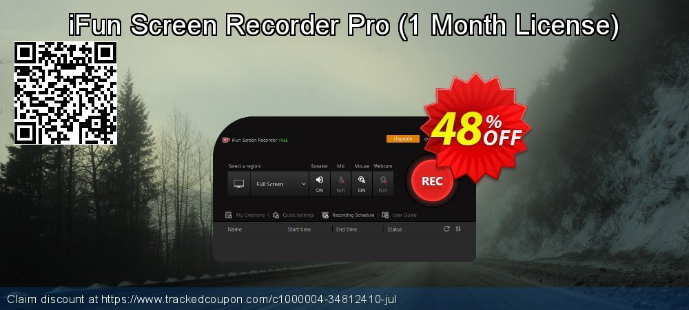 iFun Screen Recorder Pro - 1 Month License  coupon on Talk Like a Pirate Day promotions