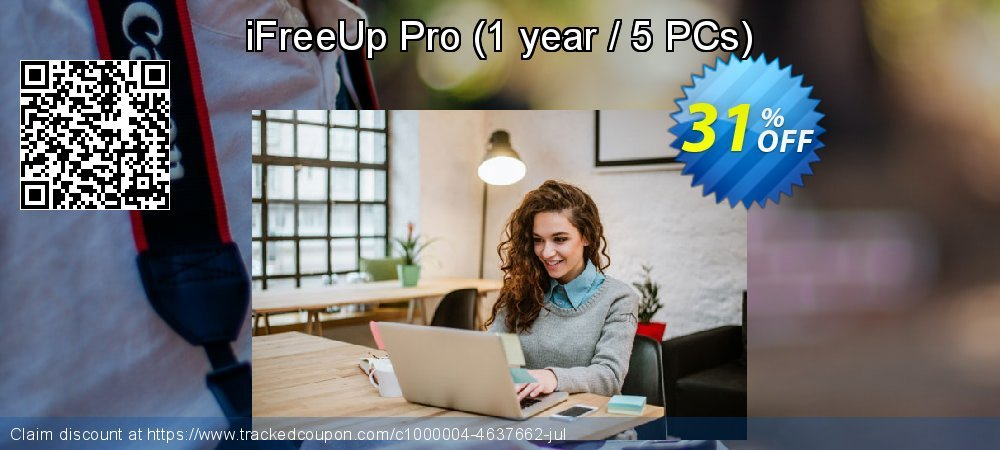 iFreeUp Pro - 1 year / 5 PCs  coupon on Mid-Autumn Festival deals