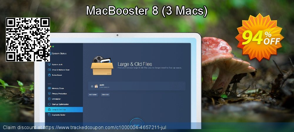 Get 40% OFF MacBooster 7 Premium promo