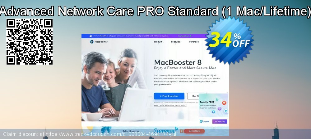 Advanced Network Care PRO Standard - 1 Mac/Lifetime  coupon on American Chess Day offer