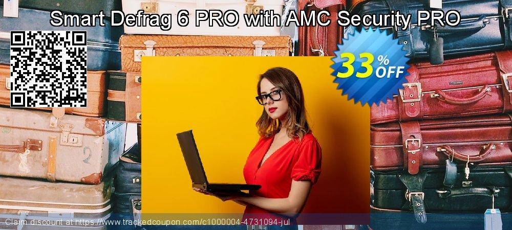 Smart Defrag 6 PRO with AMC Security PRO coupon on Halloween offering sales