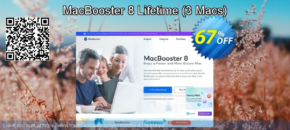 MacBooster 8 Lifetime - 3 Macs  coupon on National Family Day sales