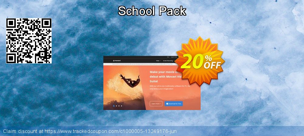 Movavi effect School Pack coupon on Back to School promotion deals